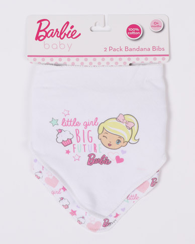 Character Brands Barbie Bandana Bib Pink