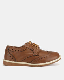 AWOL Brogue Shoes Tan