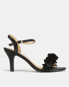 Viameera Ruffle Heels Black