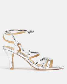 Viameera Metallic Heels Silver