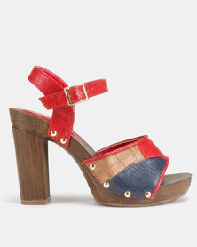 AWOL Summer Heels Red Multi