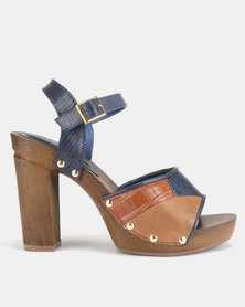 AWOL Summer Heels Navy Multi