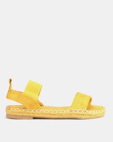 AWOL Woven Sandals Mustard