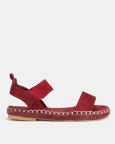 AWOL Woven Sandals Burgundy