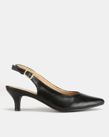 Urban Zone Kitten Court Heels Black