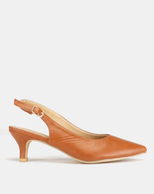 Urban Zone Kitten Court PU Heels Tan