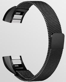 Gretmol Milanese Fitbit Alta Replacement Strap Black