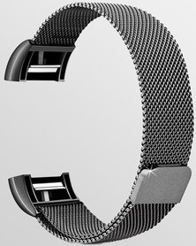 Gretmol Milanese Fitbit Charge 2 Replacement Strap Black