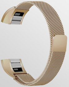 Gretmol Milanese Fitbit Alta Replacement Strap Rose Gold
