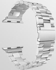Gretmol Bead Apple Watch Strap + Spring Bar Tool 42mm Silver