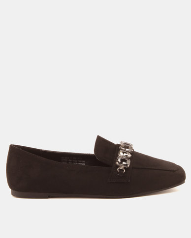 Bata Ladies Casual Shoes With Jewel Trims Black