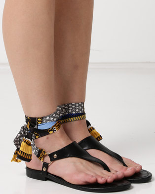 Utopia Croco Sandals Black
