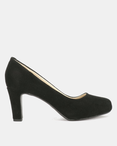 Utopia Suede Leather Round Courts Black