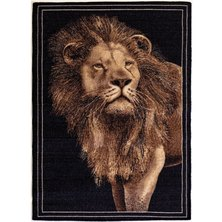 Lush Living Safari Lion Rug Black