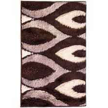 Lush Living Pastel Rug Dark Brown
