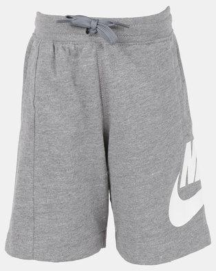 9d0e7705da6f Nike YA FT Alumni Shorts YTH DK Grey Heather