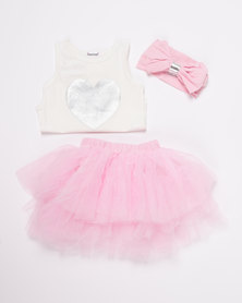Bugsy Boo Princess Tulle Set Pink