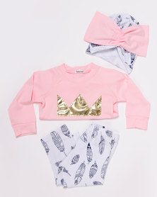 Bugsy Boo Princess Feather Set Pink