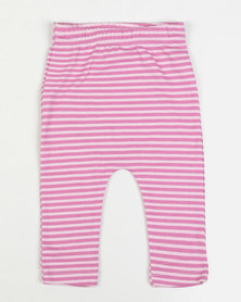 Creative Design Striped Leggings Pink