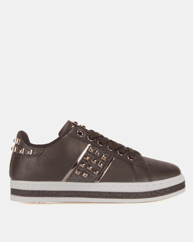 Miss Black Amina Lace Up Sneakers Black