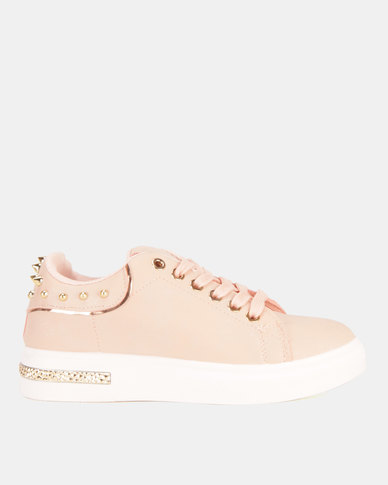 Miss Black Lele Lace Up Sneakers Pink
