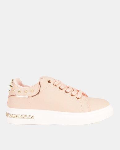 e54d739da315 Miss Black Lele Lace Up Sneakers Pink