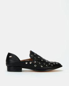 Miss Black Anovic Studdent Shoes Black