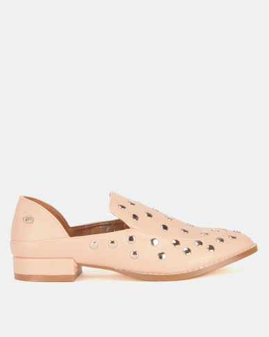 Miss Black Anovic Studdent Shoes Pink