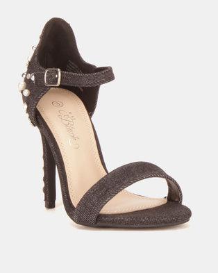 2205d79a0201 Miss Black Photini Heel Sandals Black