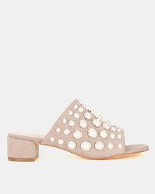 Miss Black Rebecca Heel Sandals Grey
