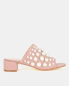 Miss Black Rebecca Heel Sandals Pink