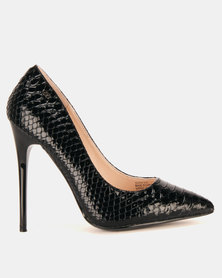 Miss Black Swan Court Heels Black
