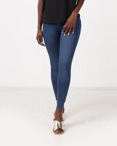 New Look Mid-Rise Skinny Emilee Jeggings Blue