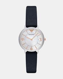 Emporio Armani Kappa Leather Watch Blue
