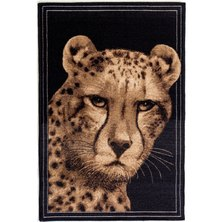 Lush Living Safari Cheetah Rug Black
