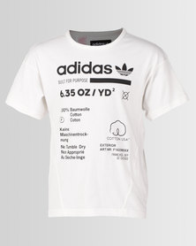 adidas Originals Boys J Kaval Tee White