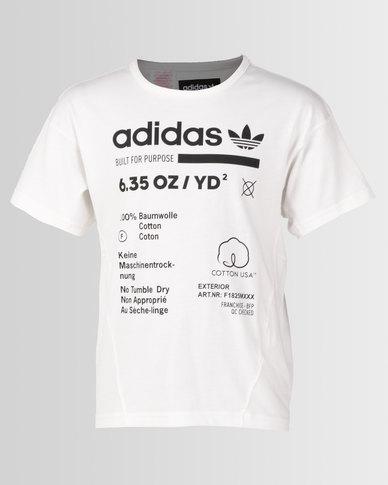 5837665d34 adidas Originals Boys J Kaval Tee White