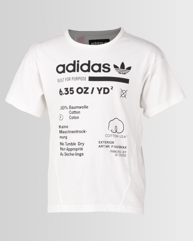 109c3ee1 adidas Originals Boys J Kaval Tee White
