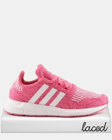 adidas Originals Girls Swift Run J Sneakers Pink