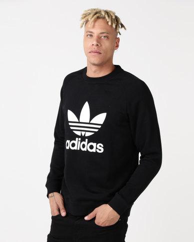 adidas Originals Mens Raglan Trefoil Black/White