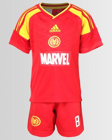 d30790397b86 adidas Originals Boys Iron Man Football Set Red | Zando