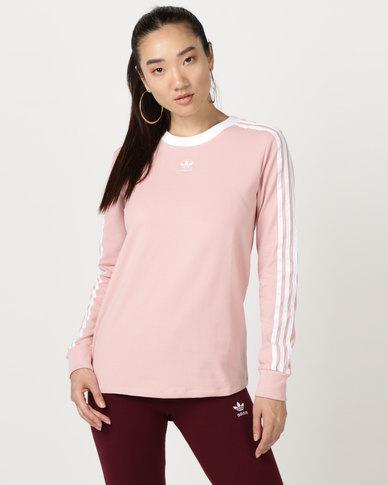 f3864a63781 adidas Originals 3 Stripes LS Tee Pink | Zando