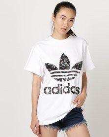adidas Originals Logo Tee White