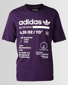 adidas Originals Kaval GRP Tee Dark Violet Cloud White