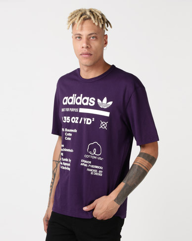 adidas Originals Kaval GRP Tee Dark Violet Cloud White