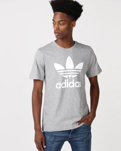 adidas Originals Mens ORG Trefoil Tee Grey