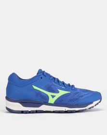 Mizuno Synchro MX Trainers Blue/Green