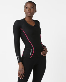 Skins A200 Women's Top Long Sleeve Black
