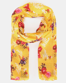 New Look Floral Scarf Yellow