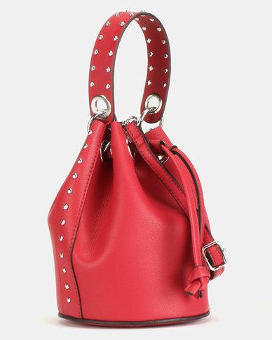 New Look Shiloh Stud Mini Duffel Bag Red